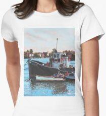 Old boats moored at St Denys Southampton T-Shirt