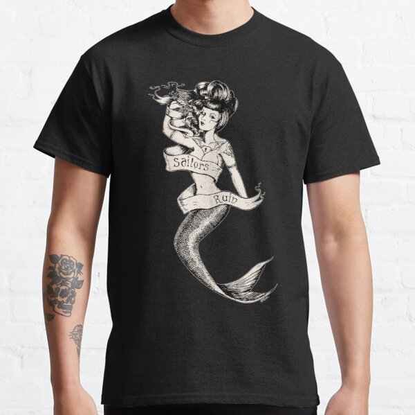 Sailors Ruin, Vintage mermaid tattoo style Classic T-Shirt
