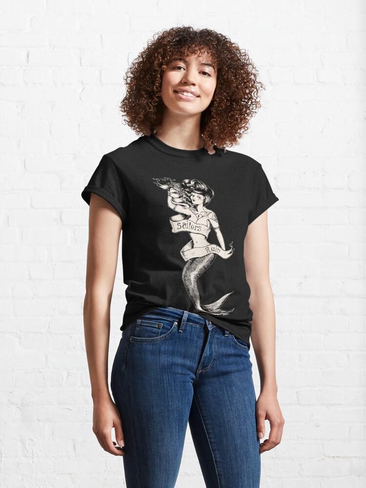 Alternate view of Sailors Ruin, Vintage mermaid tattoo style Classic T-Shirt