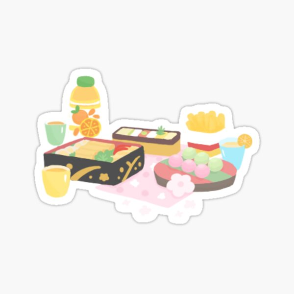 Bento Box Japanese Style Cute Illustration Sticker Sticker
