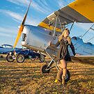 Tiger Moth And The Lady by Shaun Colin Bell