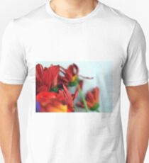 Natural composition with red petals. T-Shirt