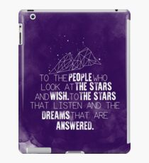A Court of Mist & Fury - To the people who look at the stars... iPad Case/Skin