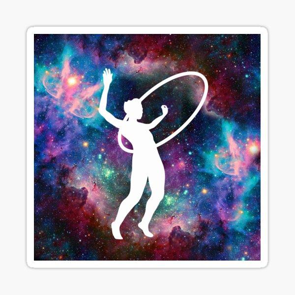 Circus Flow Arts - Cosmic Hula Hoops 1 - Rainbow Nebula Sticker