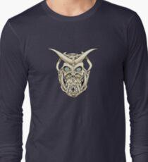 Horned Skull (color) Long Sleeve T-Shirt