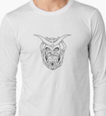 Horned Skull (black) Long Sleeve T-Shirt