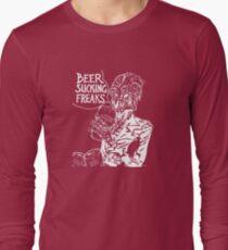 Beer Sucking Freaks (white) Long Sleeve T-Shirt