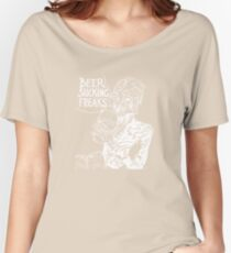 Beer Sucking Freaks (white) Women's Relaxed Fit T-Shirt