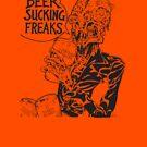 Beer Sucking Freaks (black) by SCARstudios