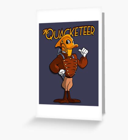The Quacketeer. Greeting Card