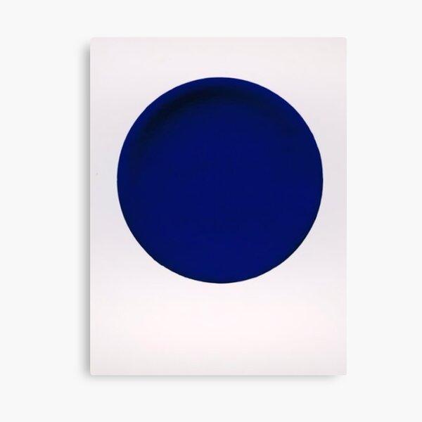 Blue Disk Canvas Print