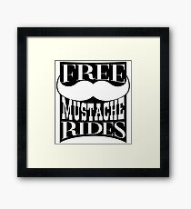 Mustache Rides Framed Print