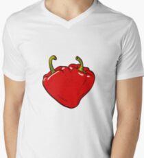 Heart Peppers sweet couple Men's V-Neck T-Shirt