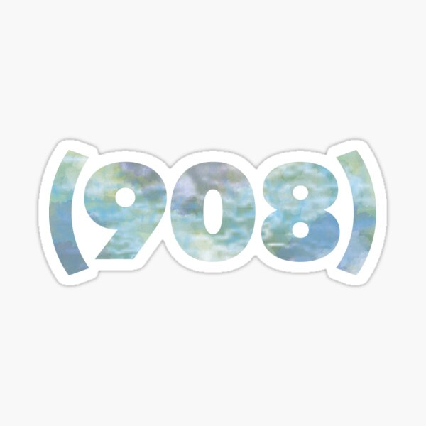 (908) cool colors Sticker