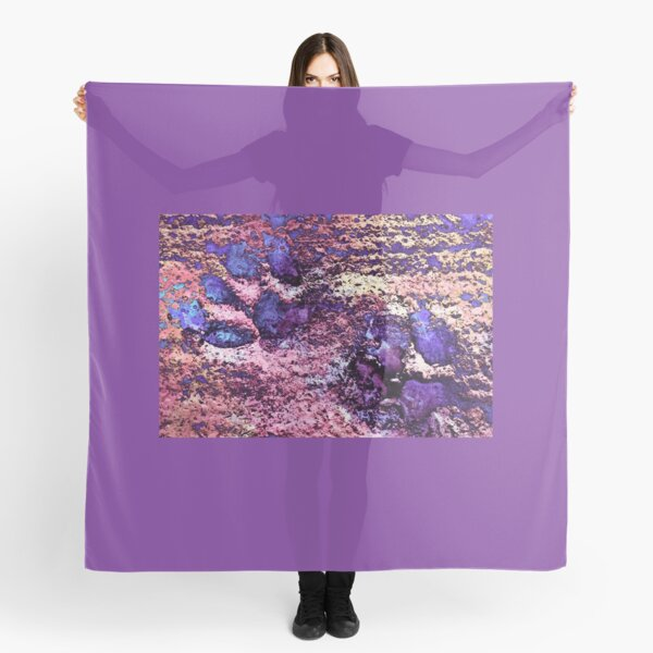 Paw Prints Purple and Pink Scarf