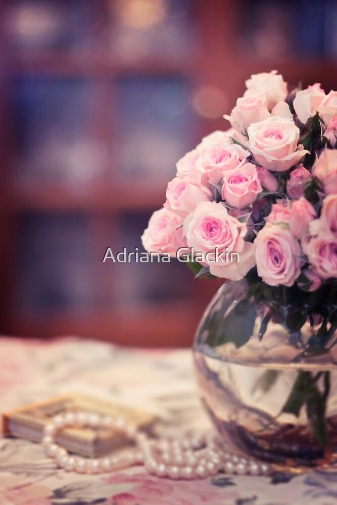 Still Life with Tea Roses by Adriana Glackin