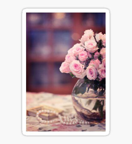 Still Life with Tea Roses Sticker