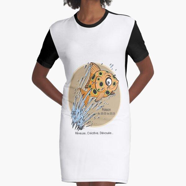 Horoscope Poisson femme Robe t-shirt