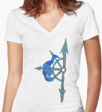Mark of Chaos - Tzeentch Women's Fitted V-Neck T-Shirt