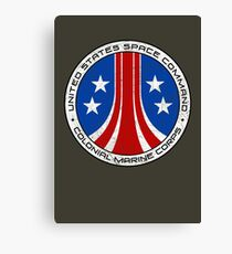 United States Colonial Marine Corps Insignia - Aliens - Dirty Canvas Print
