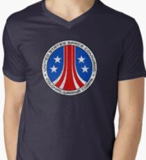 United States Colonial Marine Corps Insignia - Aliens - Dirty Men's V-Neck T-Shirt