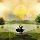 Three witches on the shore by Teona Mchedlishvili