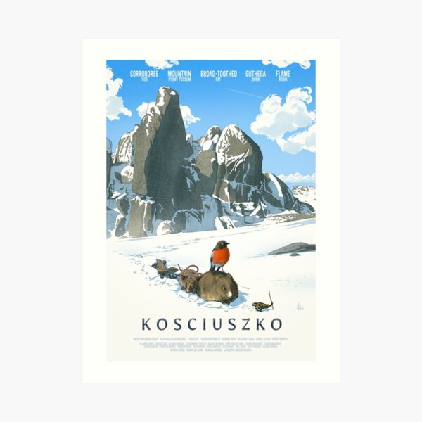 The only way is up - Kosciuszko poster series, #2 Art Print