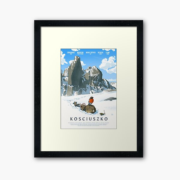 The only way is up - Kosciuszko poster series, #2 Framed Art Print