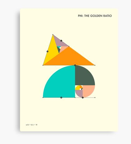 PHI: THE GOLDEN RATIO Canvas Print