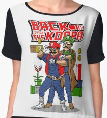 Back To Fight The Koopa Women's Chiffon Top
