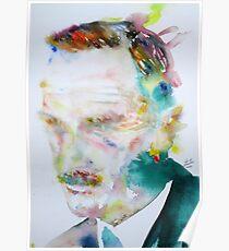 THOMAS MANN - watercolor portrait Poster