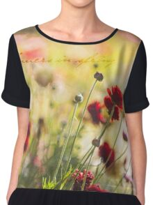 ~ flowers in spring ~ Women's Chiffon Top