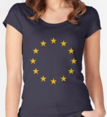 European Union Flag Women's Fitted Scoop T-Shirt