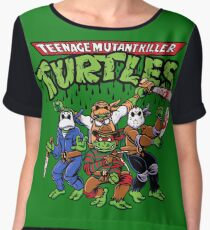 Killer Turtles Women's Chiffon Top