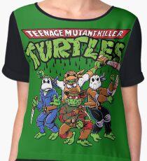 Killer Turtles Chiffon Top