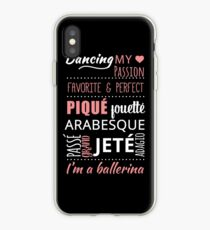 I'm a Ballerina !! Ballet Words Classical dance iPhone Case