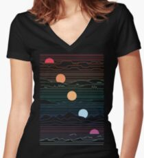 Many Lands Under One Sun Women's Fitted V-Neck T-Shirt