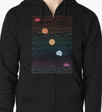 Many Lands Under One Sun Zipped Hoodie