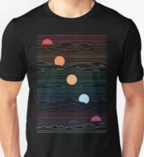 Viele Länder unter einer Sonne Unisex T-Shirt