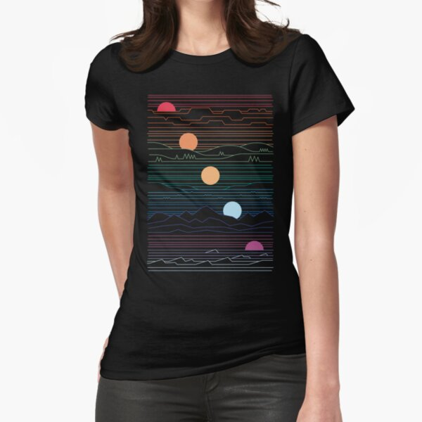Many Lands Under One Sun Fitted T-Shirt