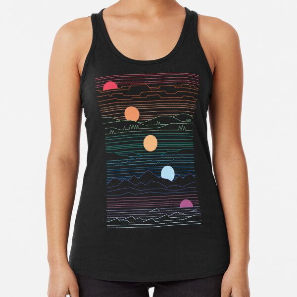 Many Lands Under One Sun Racerback Tank Top