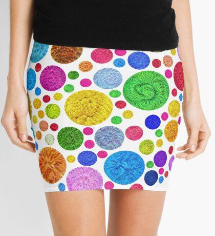#DeepDream Color Circles Visual Areas 4x4K v1448872458 Mini Skirt