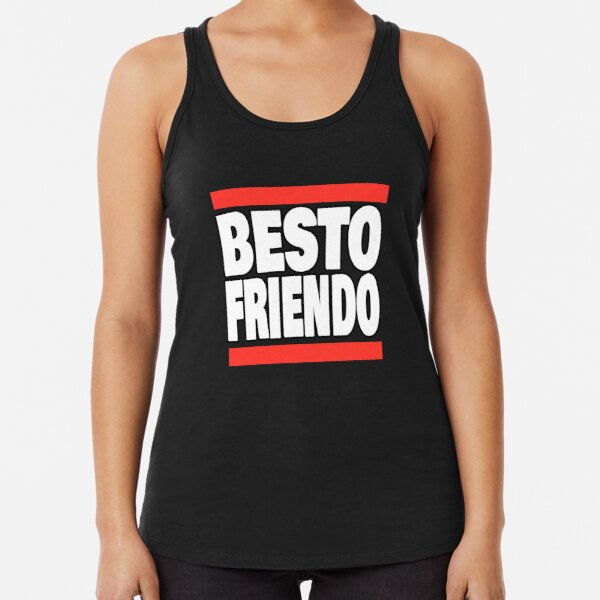 Besto Friendo version 6 todo x itadori - Funny anime quote Racerback Tank Top