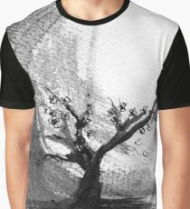 Sumi e sakura tree Graphic T-Shirt