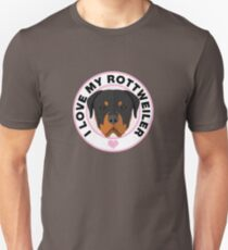 Love My Rottweiler Dog Unisex T-Shirt