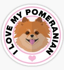 Love My Pomeranian Dog Sticker