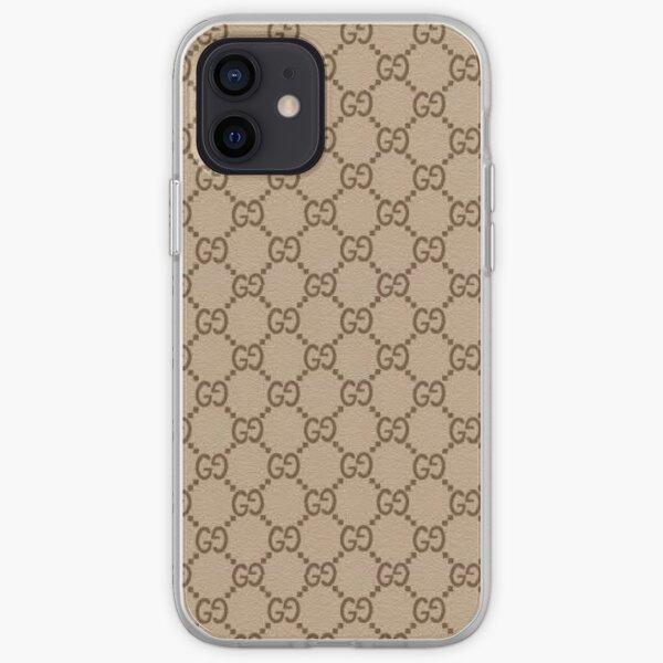 ¡tendencia gc marrón! Funda blanda para iPhone