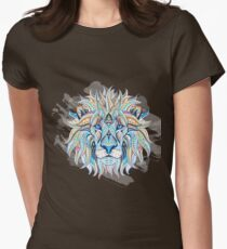 Ethnic Blue Lion Womens Fitted T-Shirt