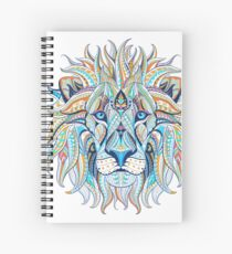Ethnic Blue Lion Spiral Notebook