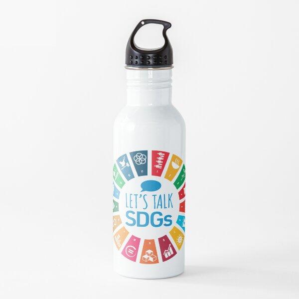 Let's Talk SDGs   UN Global Goals Logo   United Nations Sustainable Development Goals 2030 Water Bottle
